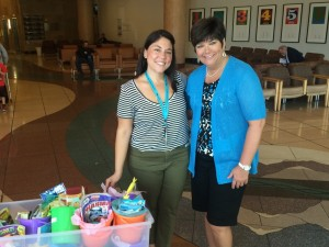 Thank you, Diana at Univ of New Mexico Children's Hospital for allowing us to deliver buckets.