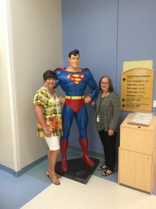 Primary Children's Hospital in Salt Lake City, UT has super heroes in their hallway to remind patients they are heroes!