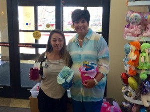 Deanna and Carmen.  Buckets delivered to Sunrise Children's Hospital in Las Vegas, NV.